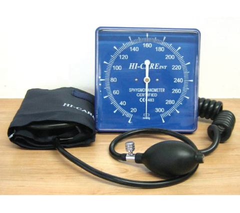 Aneroid Square Face Wall Mountable Blood Pressure Meter