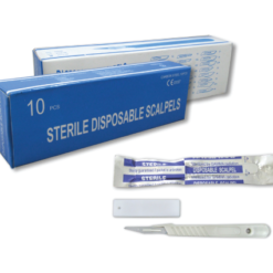 STERILE DISPOSABLE SCALE BLADES AND HANDLES SIZES 10 25