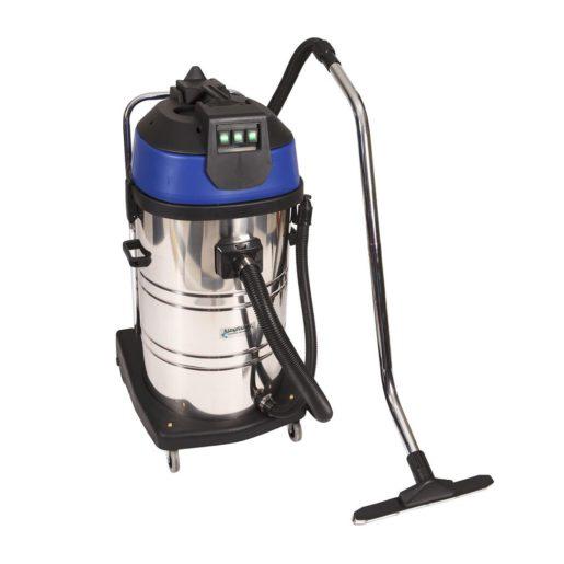 Vacuum cleaner 80l stainless steel wet dry vacuum 3 motors for Motor for vacuum cleaner