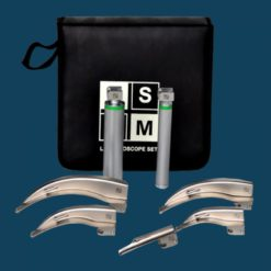 5 Blade Laryngoscope Set Fibre Optic large 1000x1000